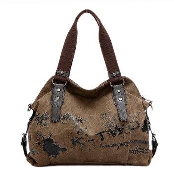2017 Luxury women handbags famous brands khaki canvas shoulder bag bolsas femininas de ombro wholesale