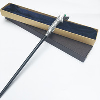 Newest Colsplay Metal Core Lucius Malfoy Magic Wands Deluxe COS Harry Potter Magical Stick With Gift