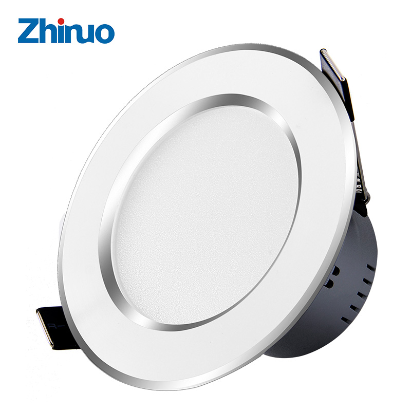 ZHINUO 10 PCS Changeable LED Downlight Ceiling Spot Lamp Light Led Recessed Downlight SMD5730 3W Warm White/White 110V 220V inventory accounting