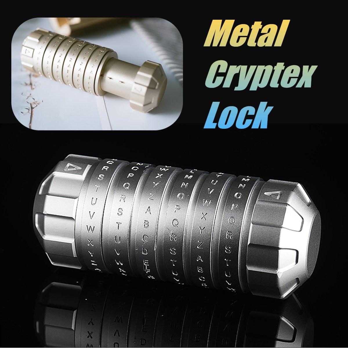 Da Vinci jouets éducatifs métal Cryptex serrures idées cadeaux vacances noël cadeau à marier amant évasion chambre