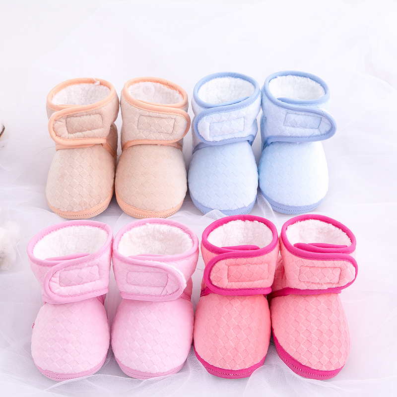 Baby Winter Warm Shoes Cute Cotton Boys Girls Soft Boots Infant Warm First Walkers Toddlers Fleece Lined Shoes for Newborn