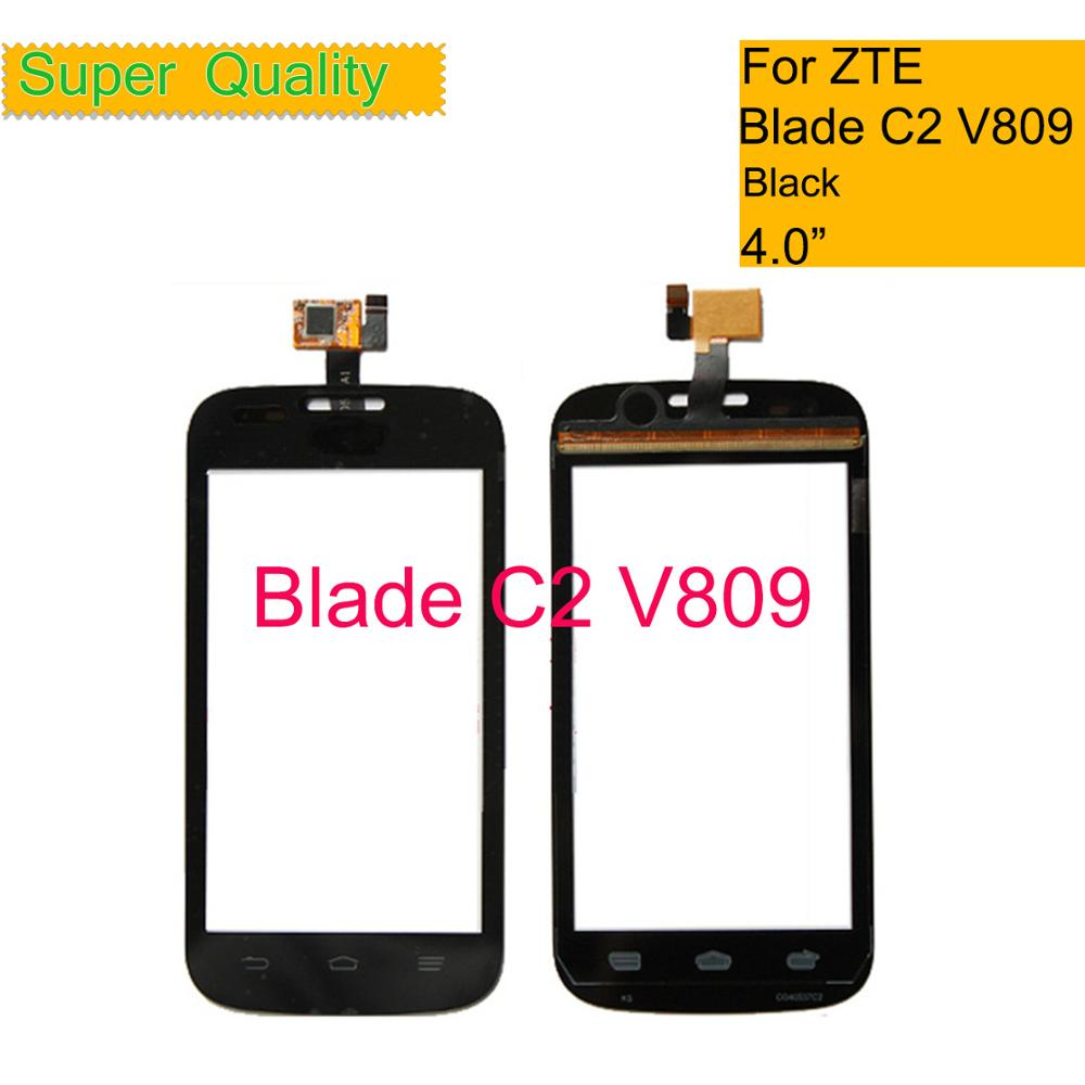 For ZTE Blade C2 V809 Touch Panel Touchscreen Lens Front Glass Sensor NO LCD V809 Touch Screen Digitizer Replacement