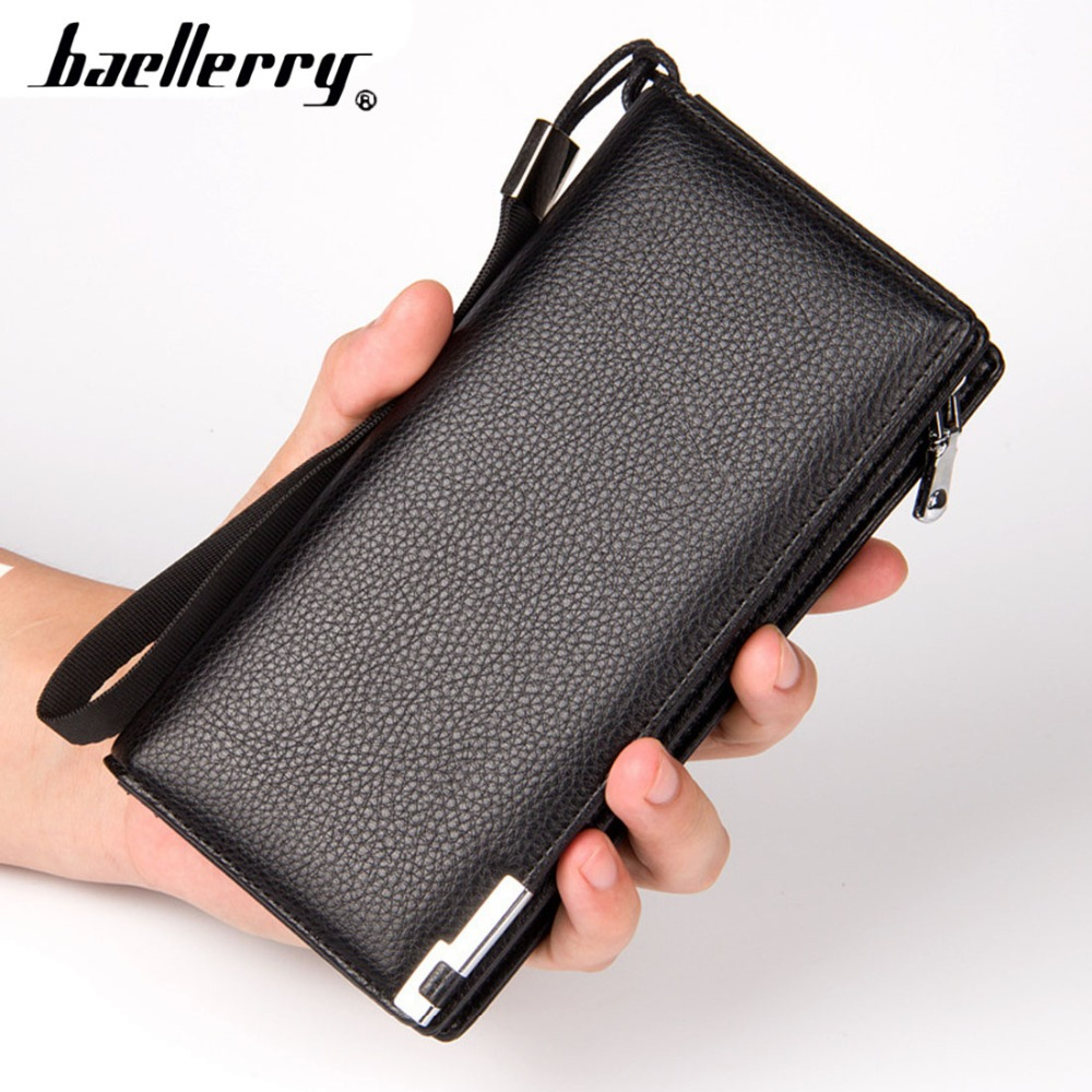 Baellerry Men Wallets High Quality Leather Long Big Male Wallets Cards Holder Zipper Men Purse Clutch Casual Style Money Bag new big brothers money cigarette card case box holder