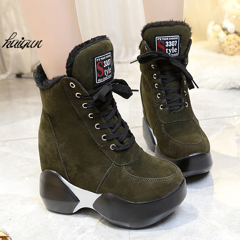 Pu 11 Calzan Con Invierno Black verde Los Cm Zapatos Para Casuales Del rojo Militar Mujeres Ultra Alta Ascensor negro fOfCxqAr