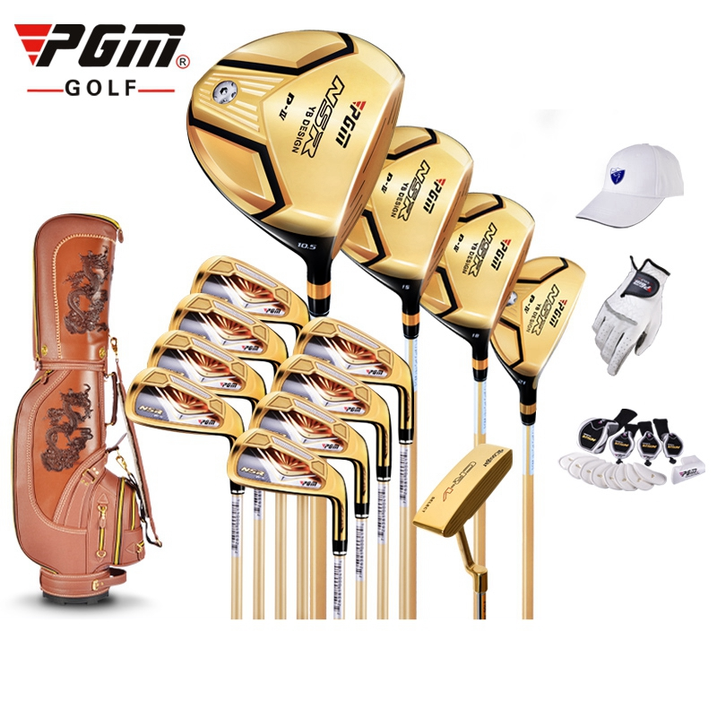 brand PGM collections. 13 pics Luxury MENS golf clubs complete set carbon graphite shaft Titanium Alloy for Rod of Driver free shipping pgm mens golf clubs complete set of graphite shaft with standard bag titanium alloy for rod