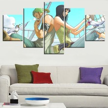 Roronoa Zoro x Nico Robin 5 Piece Canvas Wall Art