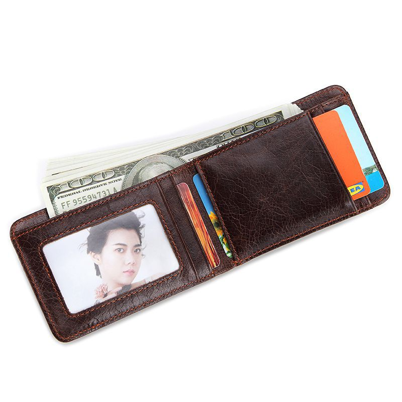 Treafury Genuine Leather Small Mini Ultra-thin Wallets men Compact wallet Handmade wallet Cowhide Card Holder Short Design purse aim mens small wallet 100% genuine leather men purse male compact slim short wallets for men cowhide card holder carteira a292