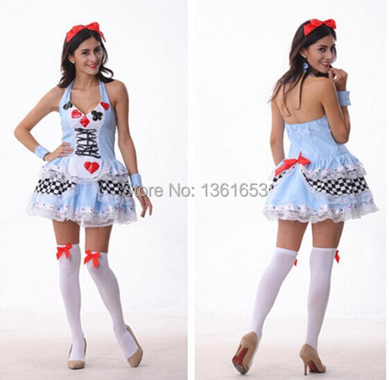 Alice in wonderland poker princess maid COS cartoon costume maids skirt font b Cosplay b font