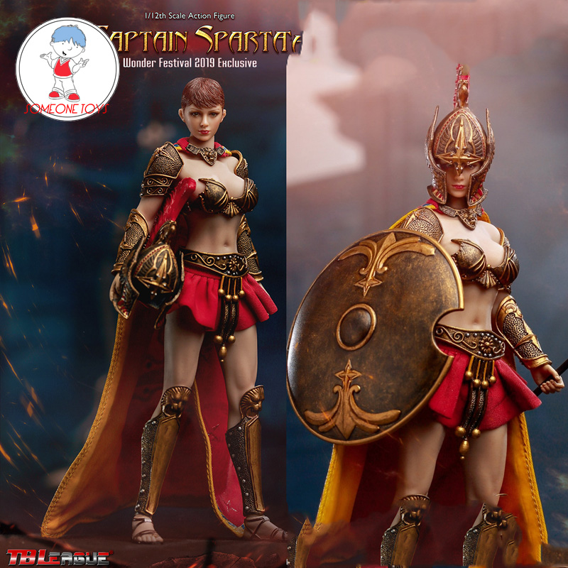 Limited TBLeague 1:12 Captain Sparta Action Figure Warrior Wonder Festival 2019 Exclusive PL2019-143B Whole Set Figurine Dolls