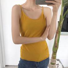 Pengpious slim fit summer singlet for girls solid color fashion lady top cotton sexy vest for women(China)
