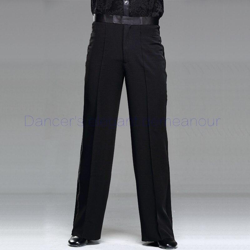 Mens latin dance costume mens spandex latin dance trousers mens Rumba / Samba / Tango Cha Cha / Jazz mens Dance wear K06