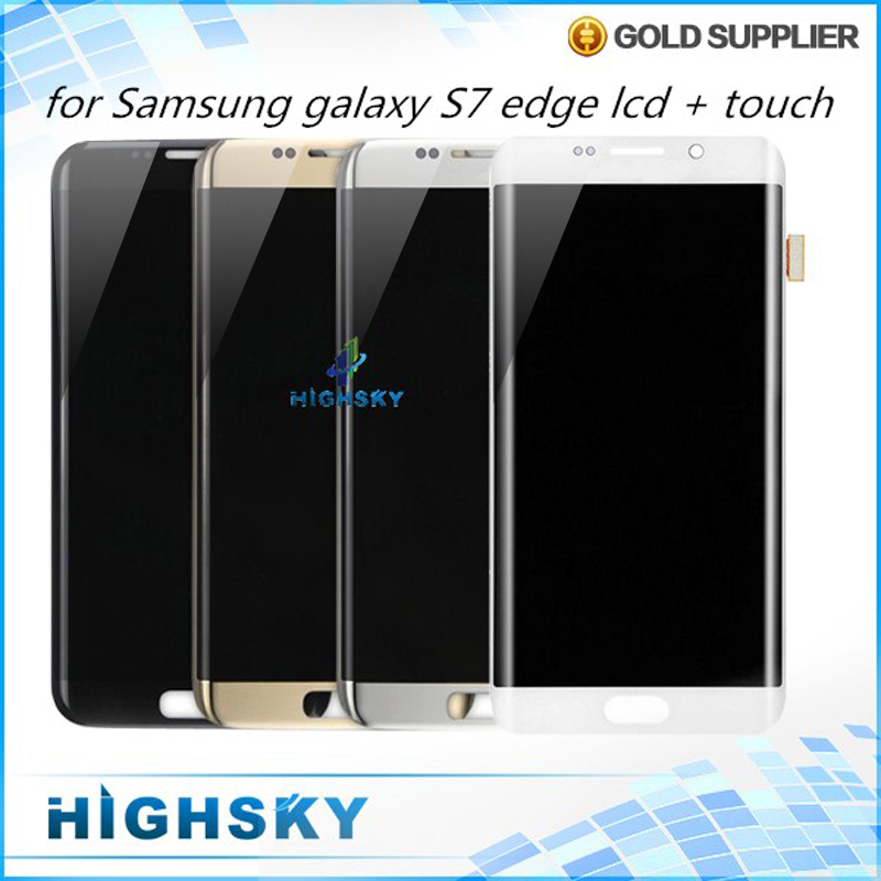 Replacement Tested For Samsung Galaxy S7 Edge LCD G9350 G935 G935A Display With Touch Screen Digitizer Assembly Free Shipping brand new for samsung s7 edge g9350 g935 g935f g935fd lcd screen display with touch digitizer replacement assembly free shipping