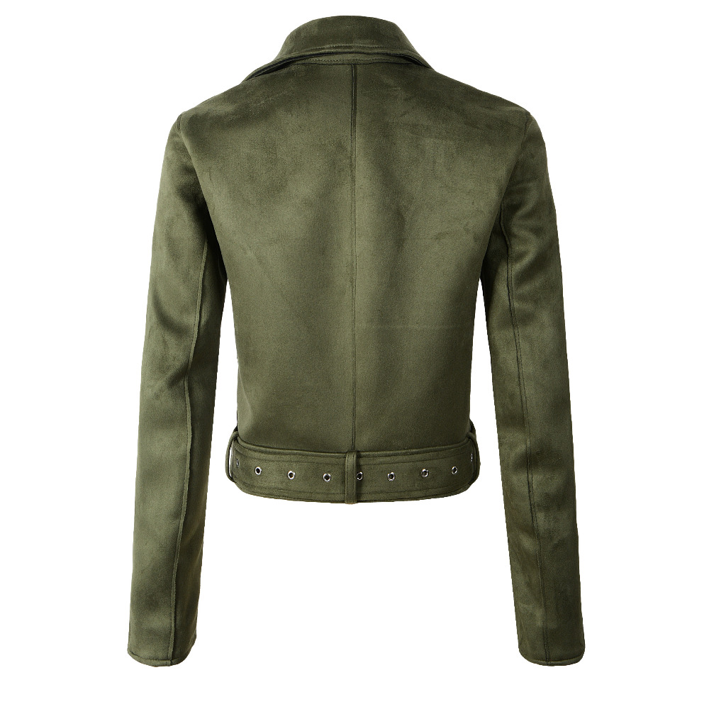 Women Soft Suede Faux Leather Jackets