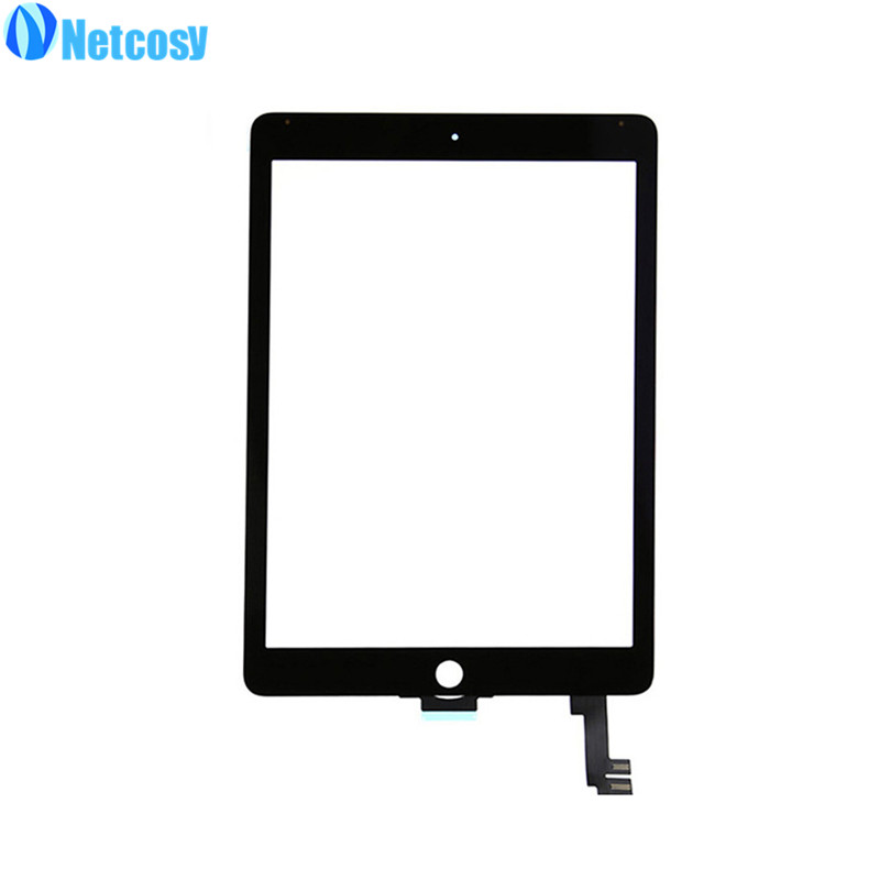 Netcosy For ipad Air2 touch panel Black / White Touch Screen Glass Digitizer Replacement parts for iPad Air 2 replacement touch screen digitizer glass for lg p970 black