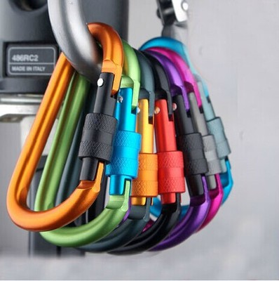 EDC Outdoor Multi Colors Safety Buckle With Lock Aluminium Alloy Climbing Button Carabiner Camping Hiking Hook Survival Pocket