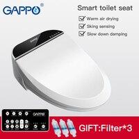 GAPPO Смарт сиденье для туалета чехлы для сидений унитаза биде стульчак с электроподогревом крышка мочалка умный туалет теплые чистое сидень