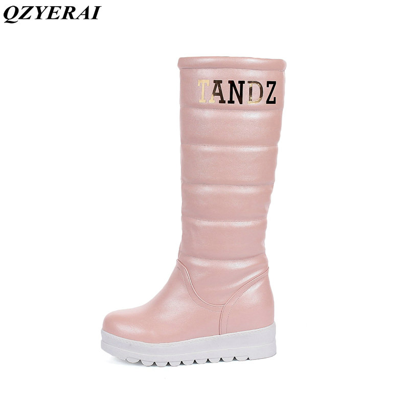 QZYERAI 2018 fashion snow boots winter sexy plush women's shoes high quality pu production female boots size 34-43 forudesigns casual women handbags peacock feather printed shopping bag large capacity ladies handbags vintage bolsa feminina page 7