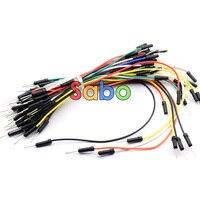 65 teile/paket Mix Farbe Stecker auf Stecker Solderless Flexibles Brotschneidebrett Jumper Kabel Draht großhandel-in Drähte und Kabel aus Licht & Beleuchtung bei