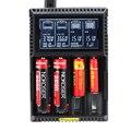 Nokoser 4 slot de lcd carregador de bateria inteligente para lifepo4 nimh nicd aa/aaa li-ion 22650/18650/18490/17500/18350/16340/14500/10440