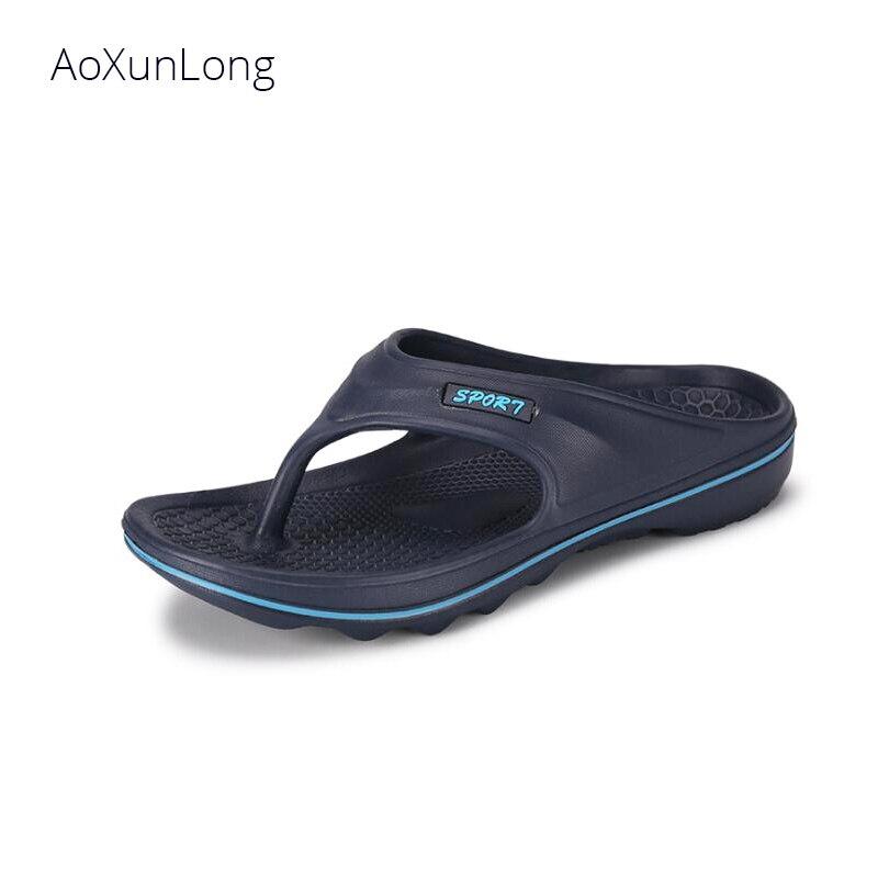 Aoxunlong Männer Sommer Massage Flip-flop Außen Strand Hausschuhe Männer Nicht-slip Hausschuhe Eu Größe 40-45 Heißer Rutsche Männer Flip-flops Schuhe