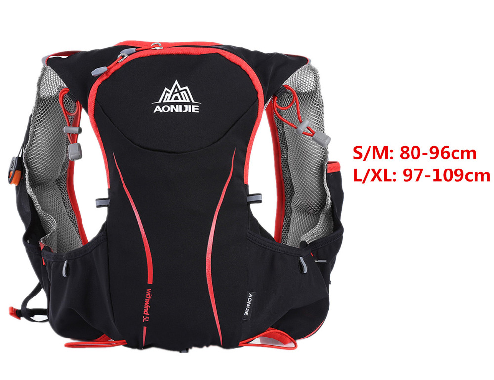Foto from the front breathable hydration vest pack for cycling. Outdoor hydration rucksack 1.5L for men