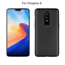 Shockproof Phone Case For Oneplus 6 5 5T Carbon Fiber TPU Silicone Cover One Plus Protective Coque