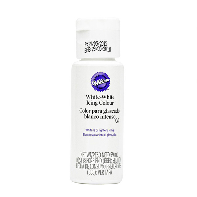 US $12.69 |Free shipping Wilton NEW 59 ml white water soluble liquid food  coloring, white fondant / cream material pigment paste-in Baking & Pastry  ...