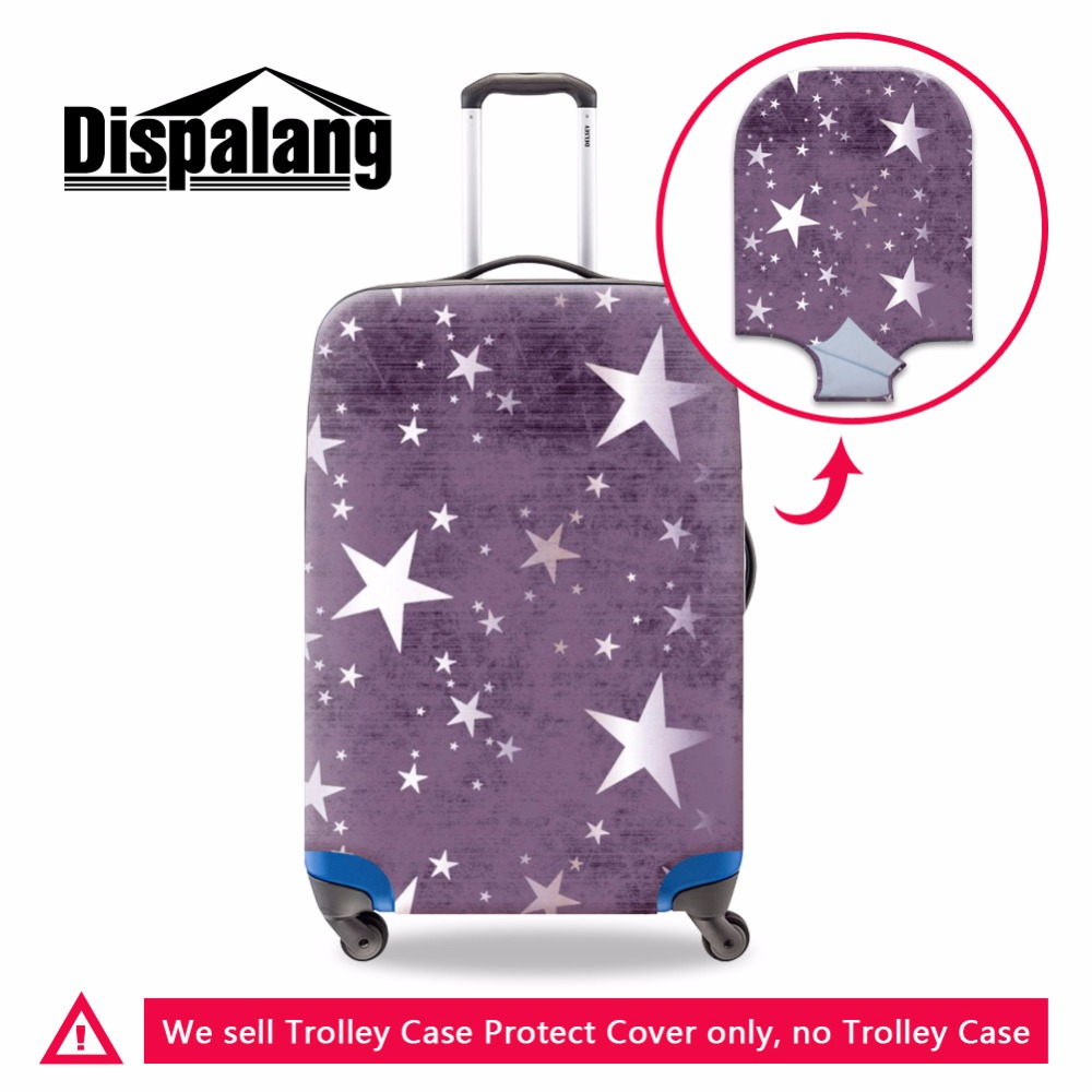 Suitcase Covers Star Pattern for Girls Cute Spandex Luggage Cover for Women Travel Acccessories Waterproof Luggage Protectors