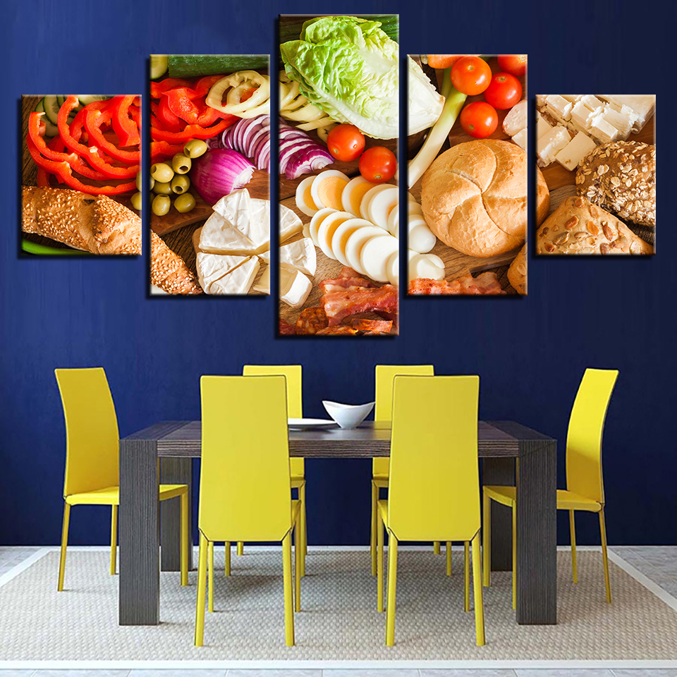 Canvas HD Modern Artwork Type Poster Painting Wall Art 5 Panel ...