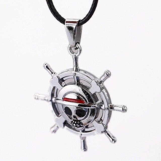 HSIC Anime One Piece Skull Monkey D Luffy Logo Pendant Necklace