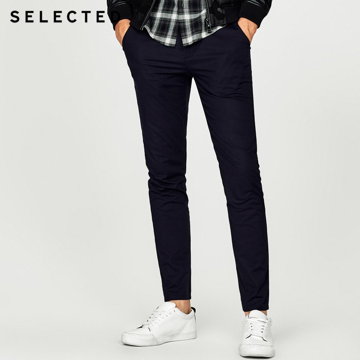 SELECTED Men s Slight Stretch Cotton blend Pure Color Business Shirt T 418305542