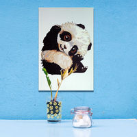 Framed Wall Pictures DIY Painting By Numbers Of Cute Panda Art Digital Canvas Oil Painting Home