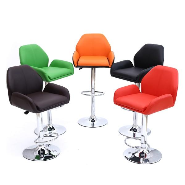 Public maison tabourets salle à manger chaises orange rouge noir ...