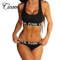 2016 mulheres treino de fitness Sem Costura lingerie sexy conjunto mulheres sutiã patchwork sexy vs rosa lingerie sem forro conjuntos sportswear