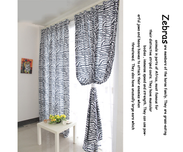 Lush Decor Top Fine Black And White Zebra Print Curtain Panel For Living Room Bedroom Blackout