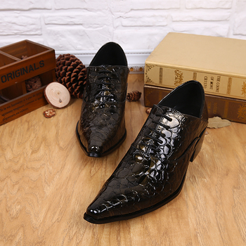 2017 British fashion stylist pointed high-grade leather shoes lace up fashion groom shoes pointed toe lace up three color oxford