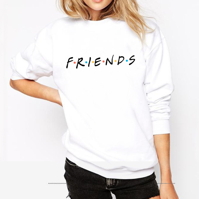 Friends Letter Print Sweater Knitted Long Sleeve O Neck Women Sweater Pullover Tops Blouse Shirt Pullovers Winter Women Clothing by Zsiibo