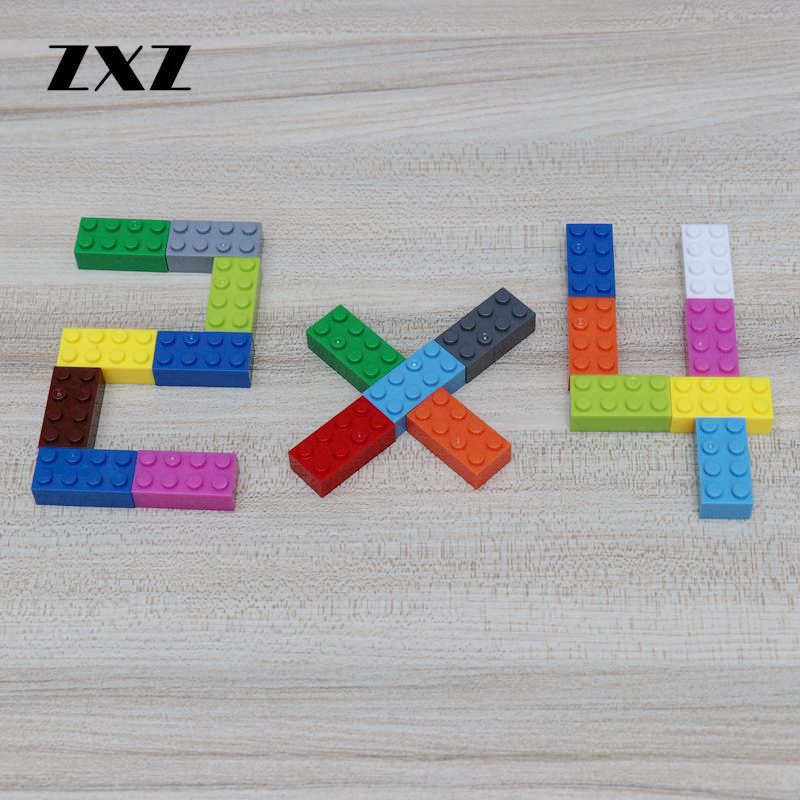 ZXZ 500PCS LOT Building Blocks Brick 2x4 Educational Toys for Children Compatible With Small Particle 3001
