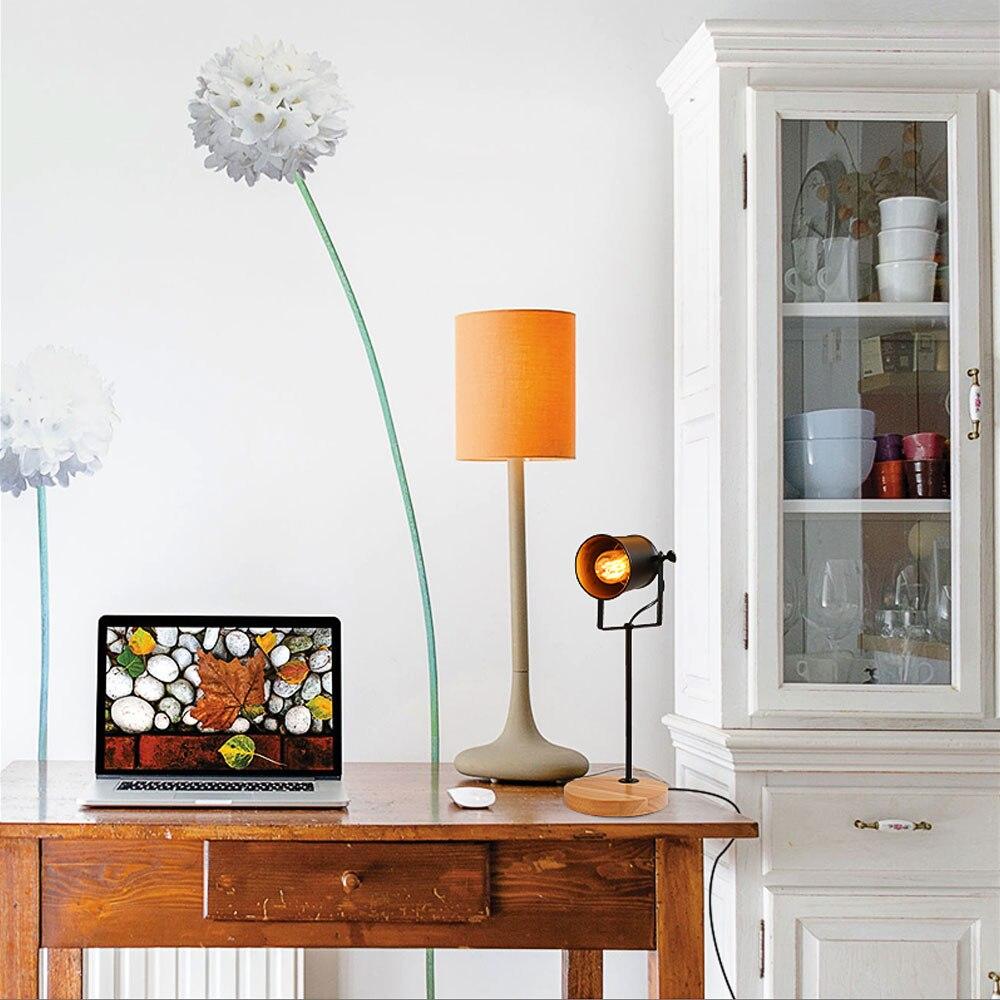 Image 5 - American Table Lamp ASCELINA Vintage Loft Wooden Led Desk Lamp Adjustable Reading Light Office Lamp Home Lighting Decor Stores-in Desk Lamps from Lights & Lighting