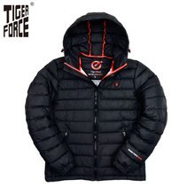 TIGER FORCE Brand Winter Jacket Mens Fashion Cotton Padded Jacket Winter Polyester Coat Bio-Cotton European Size Free Shipping