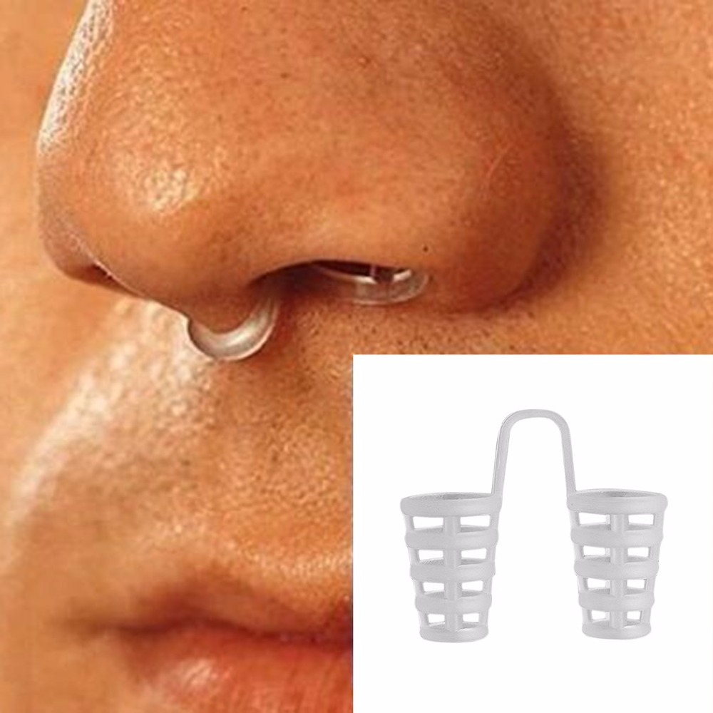 4pcs Healthy Sleeping Aid Equipment Stop Snoring Magnetic Anti Snore Apnea Nose Clip Mini Transparent Anti-Snoring Device hot