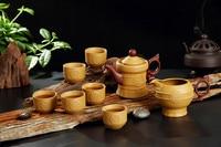 Yixing authentic Purple tea sets ceramic kung fu tea sets 8 pcs Set