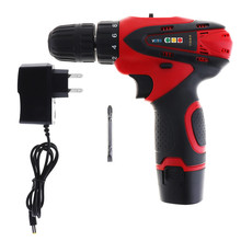 12V Rechargeable Li Battery 1.5Ah 1200rpm Cordless Two Speed Electric Screwdriver Compact Drill Kit