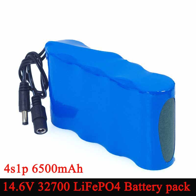 14.6V 10v 32700 LiFePO4 Battery pack 6500mAh High power discharge 25A maximum 35A for Electric drill Sweeper batteries-in Battery Packs from Consumer Electronics