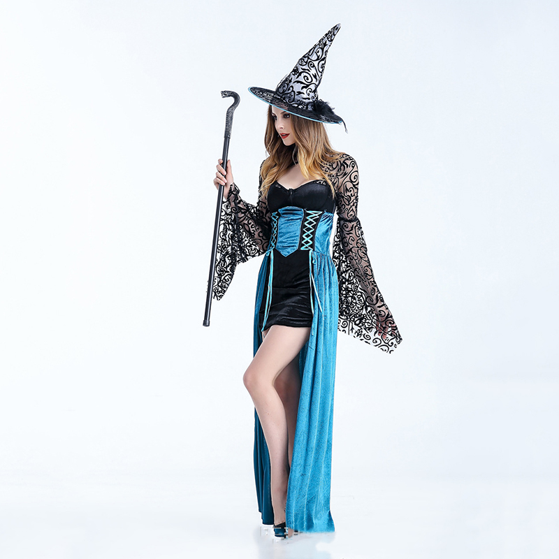 <font><b>Halloween</b></font> <font><b>Sexy</b></font> Witch Costumes Adult Women <font><b>Queen</b></font> Carnival Party Cosplay women masquerade Fancy Dress image