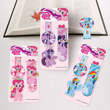 3pcs American Cartoon New Novelty Cute My Little Pony Kids' Multifunctional Refrigerator Magnetic Stickers & Bookmarks B062