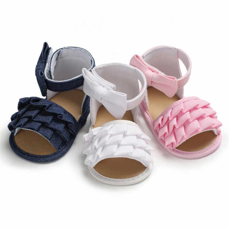 Verano bebé niña niño niños sandalias Anti-Slip cuna Zapatos de suela suave botines lindo