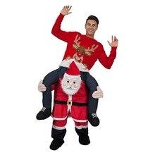 Санта-Клаус, костюмы с животными, рождественские вечерние костюмы на Хэллоуин, одежда для косплея, одежда для карнавала, отца, взрослых, игрушки для верховой езды