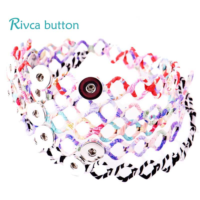 2018 Kids Headwear Fit RIvca Snap Button Jewelry Red Black Fit 18mm Snap Button Sifuhthe Hair Accessories For Girls Headband