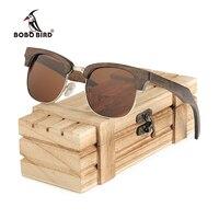 BOBO BIRD Sunglasses Women Original Ebony Wooden Vintage Glasses oculos de sol feminino AG017